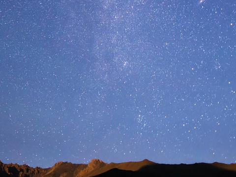 Milky Way Over The Ridge. Time Lapse. 640x480 stock footage