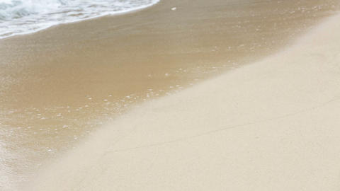 Waves On White Beach Detail stock footage