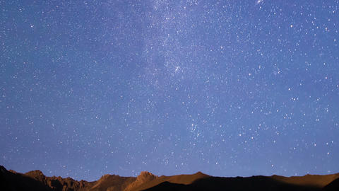 Milky Way Over The Ridge. Time Lapse. 1280x720 stock footage