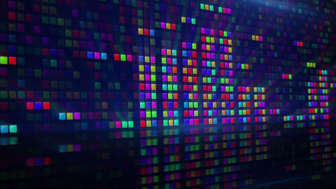 Colorful Digital Equalizer Loopable Background stock footage