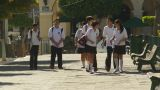 HD2009-11-3-22 School Kids In Uniform stock footage
