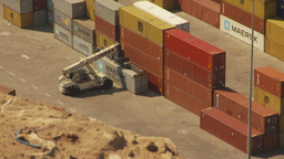 HD2009-11-18-39 Arica aerial containor port Footage