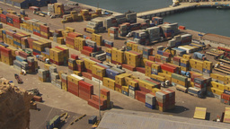 HD2009-11-18-40 Arica aerial containor port Footage