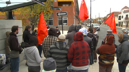 HD2009-10-5-2 peaceful protest chant nazis out Footage