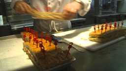 HD2009-9-2-2 Restaraunt Food X3 stock footage