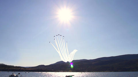 Air Show Demonstrtion stock footage