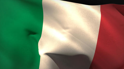 Large Italy National Flag Waving stock footage