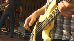 HD2009-9-9-1 Rock Band Bassist stock footage