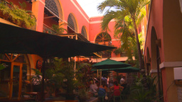 HD2008-8-14-31 San Juan Courtyard Cafe stock footage