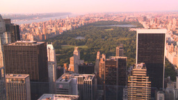 HD2008-8-18-31 NYC Central Park From 30 Rock stock footage
