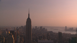 HD2008-8-18-35 NYC Empire state from 30 rock Footage