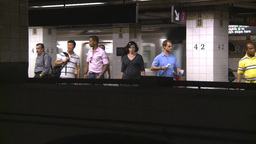 NYC Subway Stn stock footage