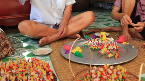 A Family Squeeze Toys For Kids With Colored Rice Powder, Asia stock footage
