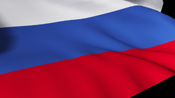 Russian Flag stock footage