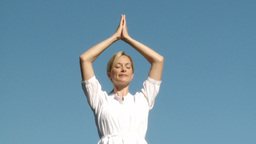 Yoga Teacher Doing Yoga stock footage