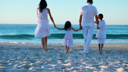 Peaceful Family Walking Together stock footage