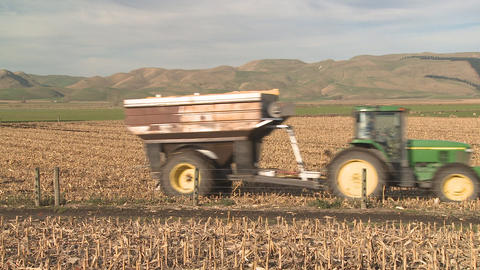 Tractor And Bin stock footage