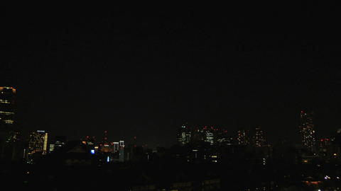 Tokyo Tower and City At Night Footage