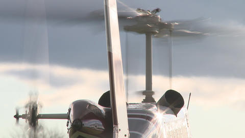 Rotors On A Helicopter stock footage