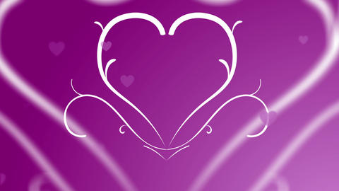Looping Hearts Grow Background Animation