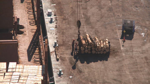 log lift to ship Footage
