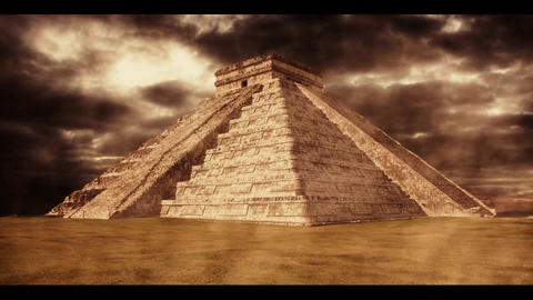 Mayan Temple stock footage
