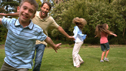 Parents Playing With Their Children stock footage