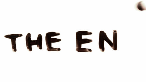 The End. Written On White stock footage
