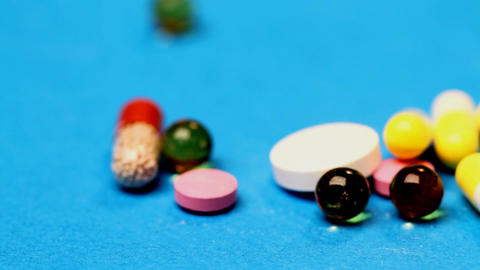 Medicines And Tablets stock footage