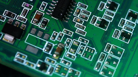 Computer Card Close-up As The Background stock footage