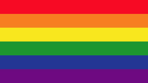 Gay flag with description Animation