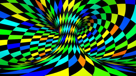 Twisted Rotation - Wink Square Colors stock footage