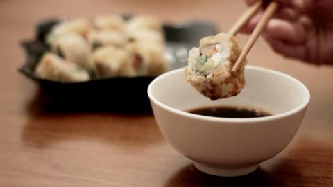 Delicious Sushi stock footage