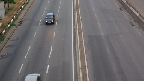 Cars On The Highway Timelapse, Closeup View stock footage