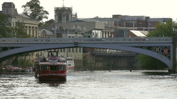 Tourist boat on river ouse Footage