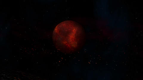 Burning Hot Lava Planet stock footage