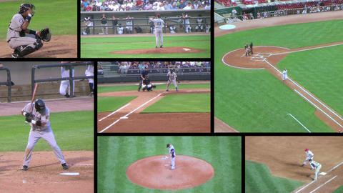 Baseball Game Composite stock footage