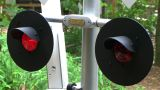 Flashing Railroad Crossing Signal stock footage