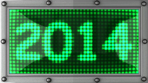 2014 Announcement On The LED Display stock footage