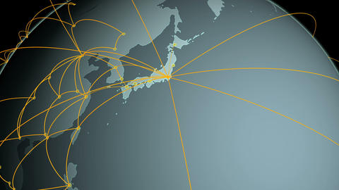 Global Network Tokyo Up GG stock footage