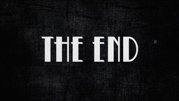 Film vintage The End animation 20s Footage