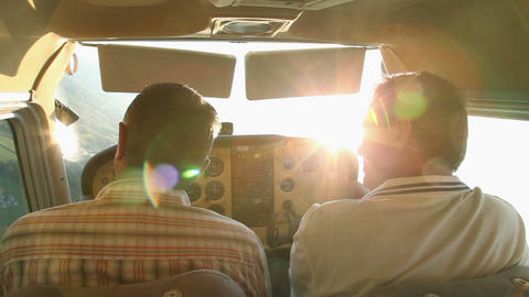 Pilot Turning Around Airplane In Mid Air stock footage