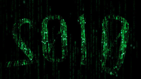 Cyberspace 2010 - Binary Code Rain stock footage