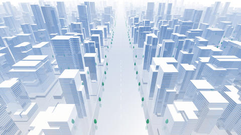 City Building B02B HD Animation