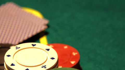 Poker 13 Dolly Right stock footage