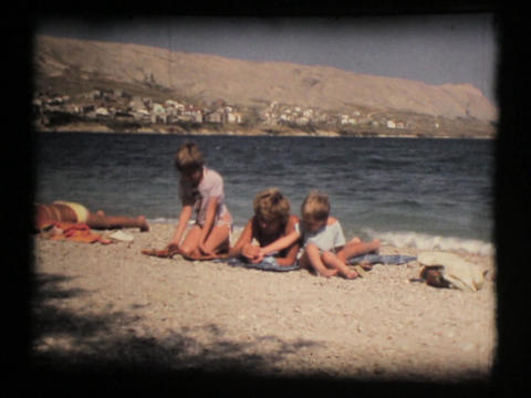 Family, Mother And Daughter On Beach stock footage