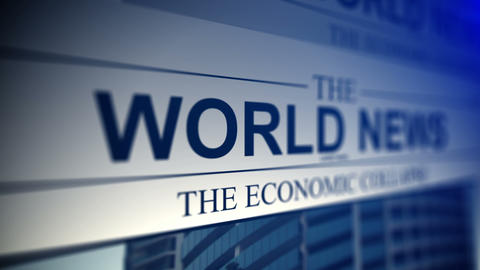 4K. Newspaper With World News Titles stock footage