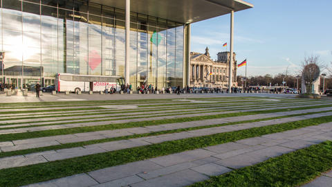 Reichstag berlin with glass facade in foreground - Footage