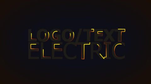 Logo Electric stock footage