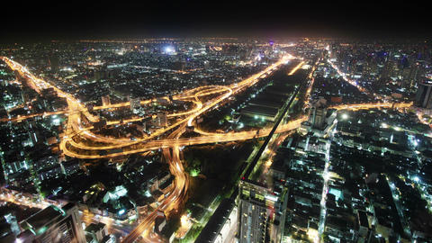 Panorama Of Night City. Thailand. Bangkok stock footage